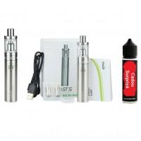 Kit Ijust S, 3000 mAh, 4ml, Eleaf, Argintiu + Lichid 40 ml Cadou